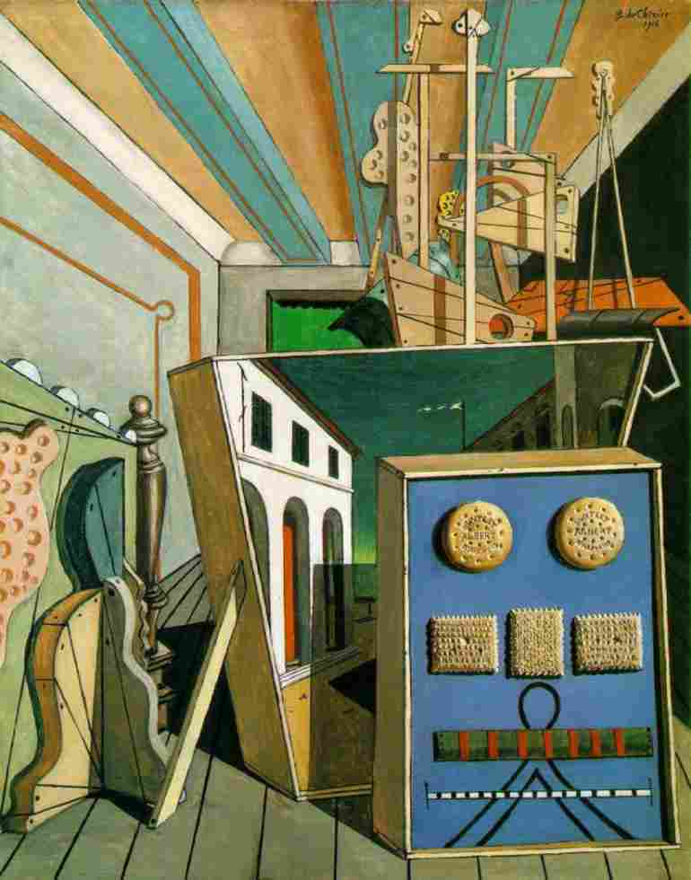 'Metaphysical Interior with Biscuits', Oil by Giorgio De Chirico (1888-1978, Greece)