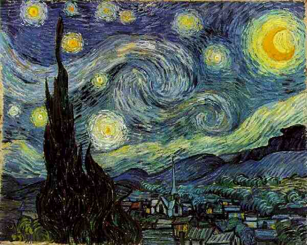 'Starry Night', Oil by Vincent Van Gogh (1853-1890, Netherlands)
