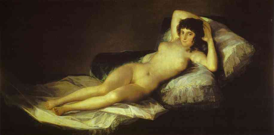 'The Nude Maja (La Maja Desnuda)', Oil by Francisco De Goya (1746-1828, Aragon)