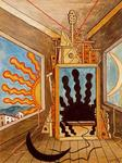 Giorgio De Chirico - Metaphysical Interior with dying sun