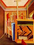 Giorgio De Chirico - Metaphysical Interior with workshop