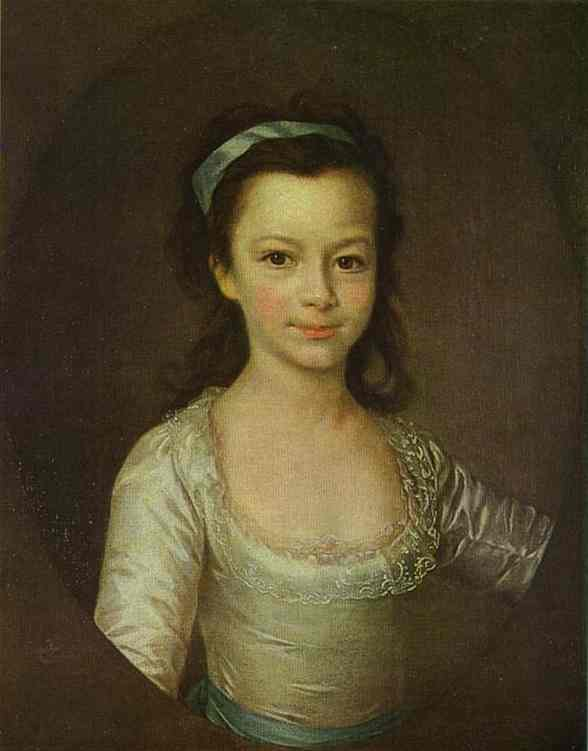 Dmitry Levitzky >> Portrait of Countess Ekaterina Vorontsova as a Child  |  (Oil, artwork, reproduction, copy, painting).
