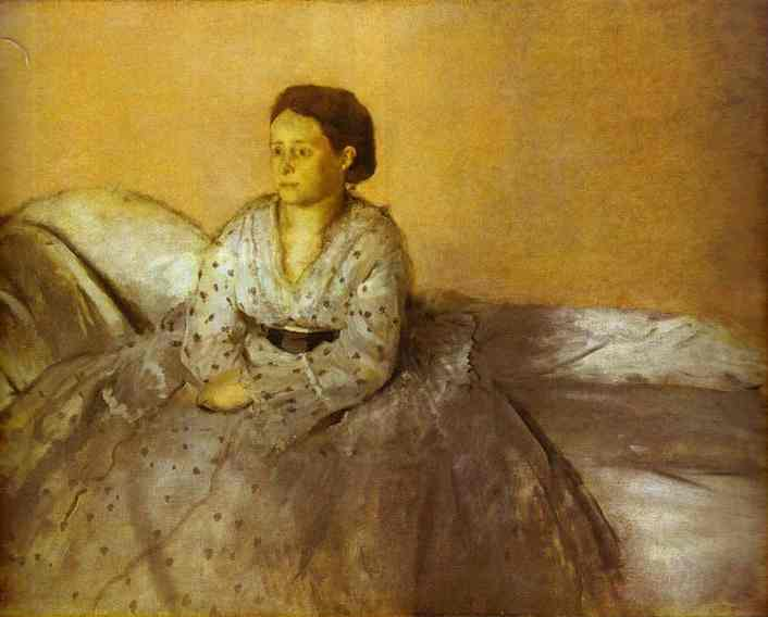 Edgar Degas >> Portrait of Estelle Musson, Madame Rene de Gas  |  (Oil, artwork, reproduction, copy, painting).