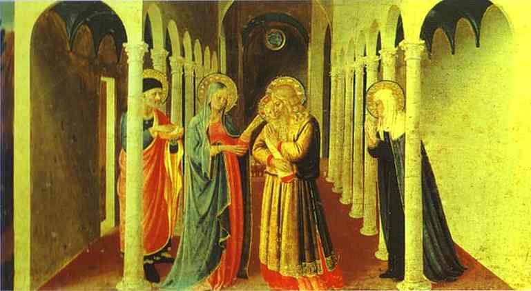 Fra Angelico >> Annunciation. Presentation in the Temple  |  (Oil, artwork, reproduction, copy, painting).