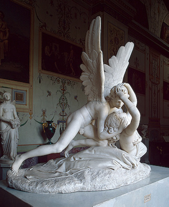 Antonio Canova >> Amore e Psiche 1798  |  (Sculpture, artwork, reproduction, copy, painting).