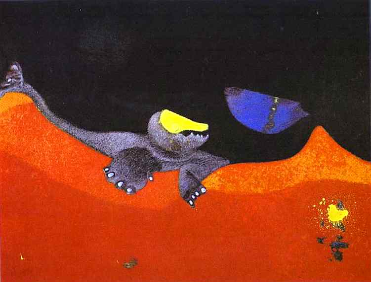 Max Ernst >> Sign for a School of Monsters  |  (Oil, artwork, reproduction, copy, painting).