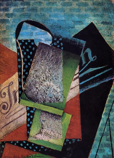 Juan Gris >> Still Life (dedicated to Andre Salmon) (1915)  |  (Oil, artwork, reproduction, copy, painting).