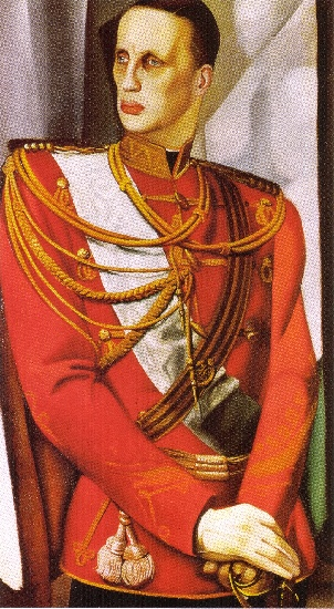 Tamara de Lempicka >> Portrait of HIH Grand Duke Gabriel (1927)  |  (, artwork, reproduction, copy, painting).