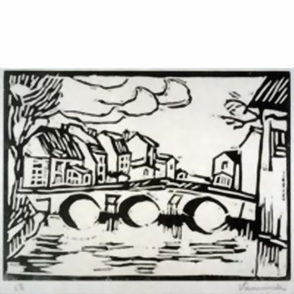 Maurice de Vlaminck >> Pont sur l'Eure a Pacy  |  (Drawing, artwork, reproduction, copy, painting).