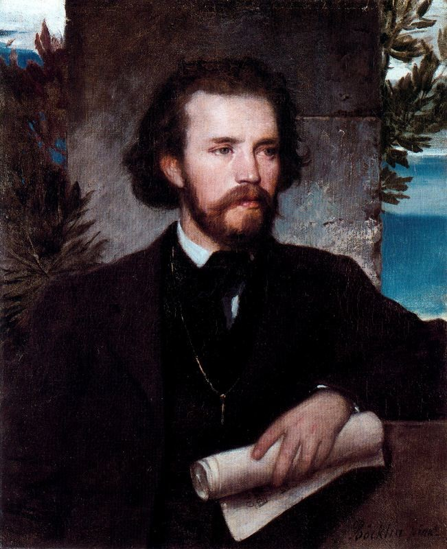 Arnold Bocklin >> Portrait du chanteur Karl Wallenreiter  |  (Oil, artwork, reproduction, copy, painting).