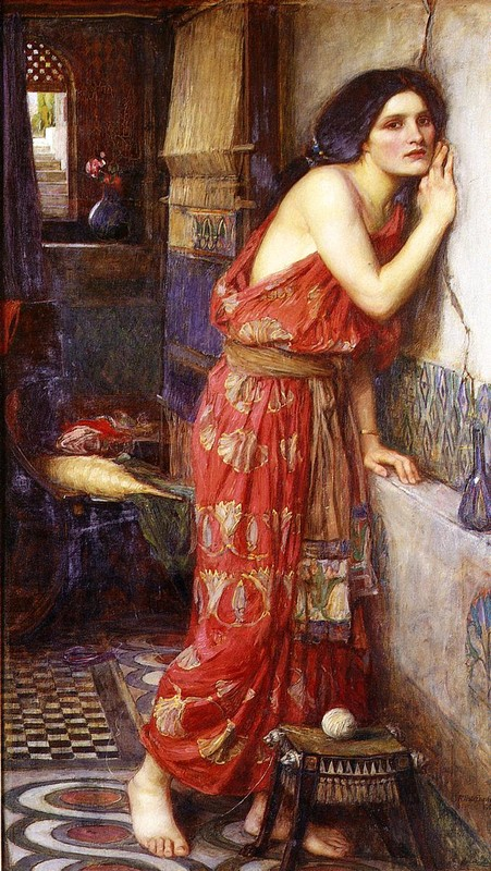 John William Waterhouse >> Thisbe (aka The Listener)  |  (Oil, artwork, reproduction, copy, painting).
