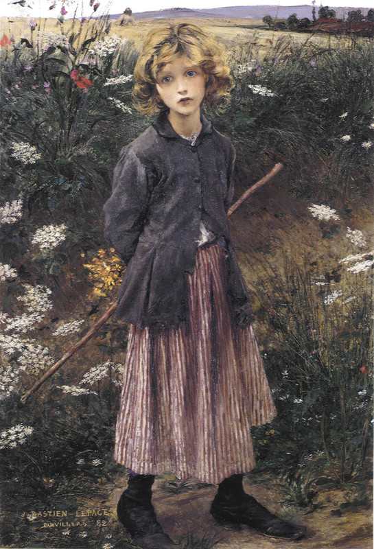 Jules Bastien-Lepage >> Young Girl  |  (Oil, artwork, reproduction, copy, painting).