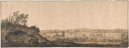 Aelbert Cuyp >> View of Calcar on the Lower Rhine near Cleves  |  (Oil, artwork, reproduction, copy, painting).