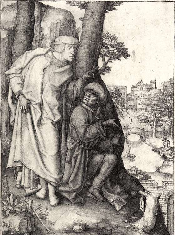 Lucas van Leyden >> Susanna and the Elders  |  (Oil, artwork, reproduction, copy, painting).