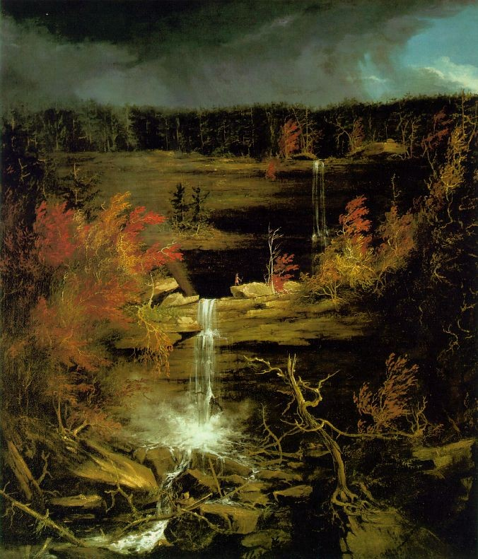 Thomas Cole >> Falls of Kaaterskill  |  (Oil, artwork, reproduction, copy, painting).