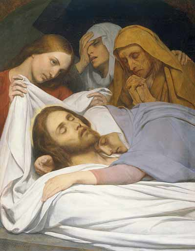 Ary Scheffer >> The Holy Women at the Sepulchre  |  (Oil, artwork, reproduction, copy, painting).