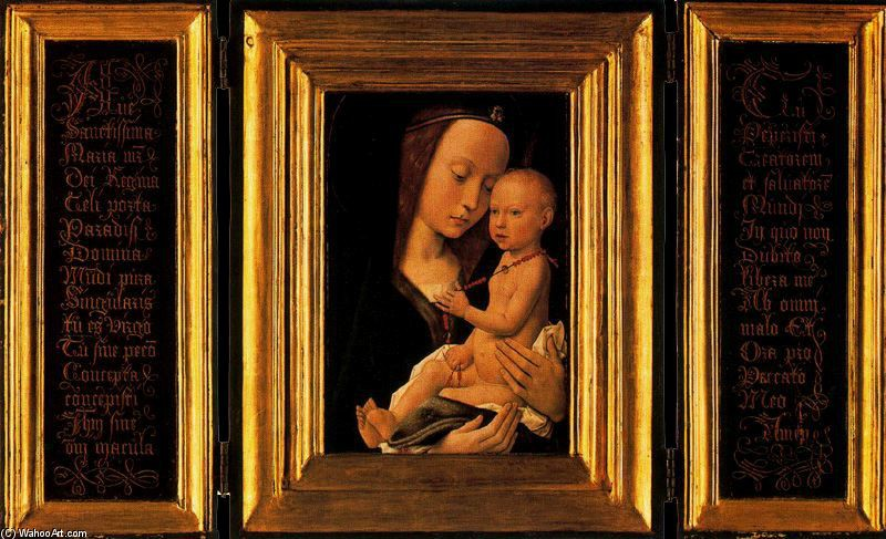Gerard David >> The Virgin and Child 1  |  (Oil, artwork, reproduction, copy, painting).