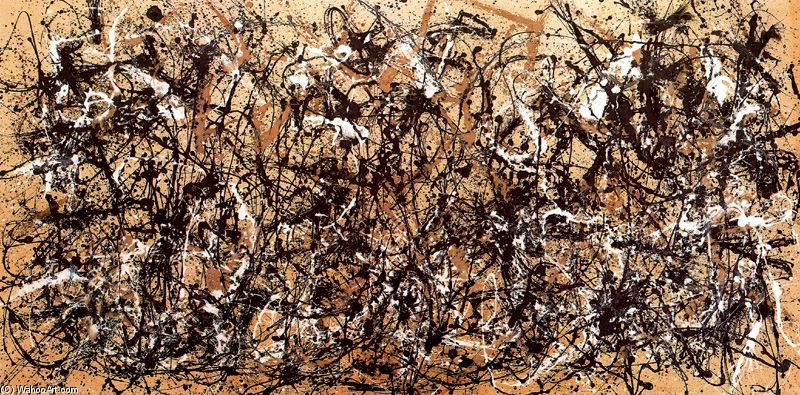 Jackson Pollock >> Autumn Rhythm. Number 30, 1950  |  (Oil, artwork, reproduction, copy, painting).