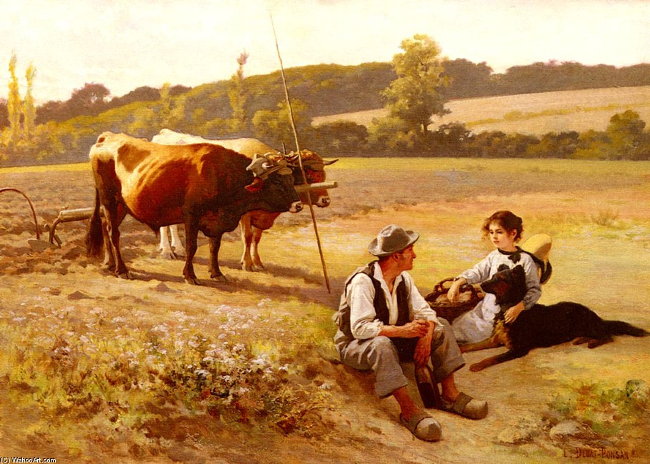 Edouard Debat-Ponsan >> Rest In The Fields  |  (Drawing, artwork, reproduction, copy, painting).