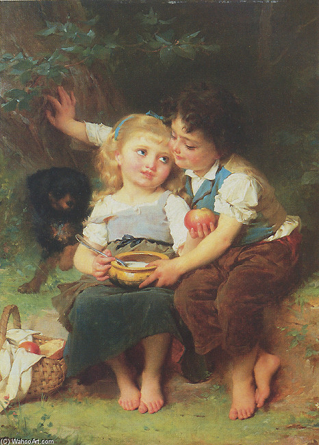 Emile Munier >> Share and Share Alike  |  (, artwork, reproduction, copy, painting).