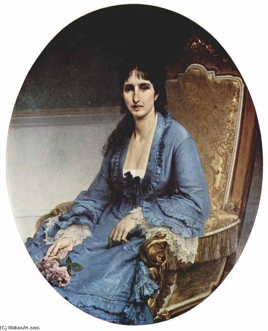 Francesco Hayez >> Portrait of Countess Antonietta Negroni Prati Morosini  |  (, artwork, reproduction, copy, painting).