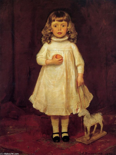 Frank Duveneck >> F. B. Duveneck as a Child  |  (, artwork, reproduction, copy, painting).