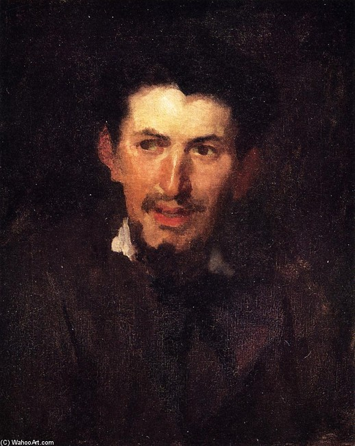 Frank Duveneck >> Portrait of a Fellow Artist  |  (, artwork, reproduction, copy, painting).
