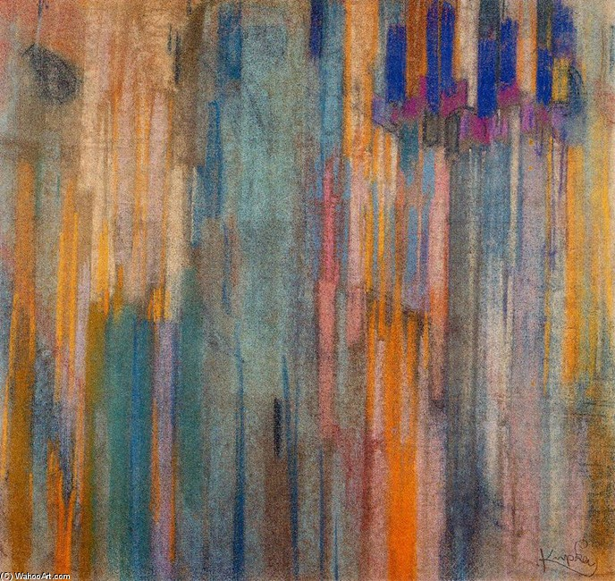 Frantisek Kupka >> Study for ''Ordenación sobre verticales''  |  (, artwork, reproduction, copy, painting).