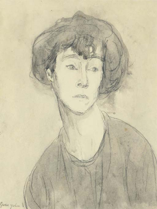 Gwen John >> Portrait of a Woman. Chloe Boughton-Leigh  |  (, artwork, reproduction, copy, painting).