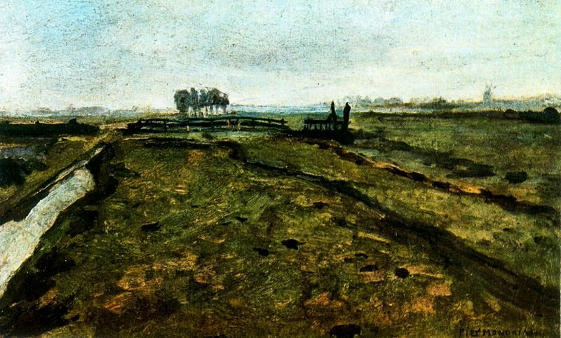 Piet Mondrian >> Landscape near Amsterdam  |  (, artwork, reproduction, copy, painting).