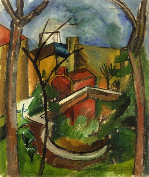 Raoul Dufy >> Landscape of Falaise  |  (, artwork, reproduction, copy, painting).