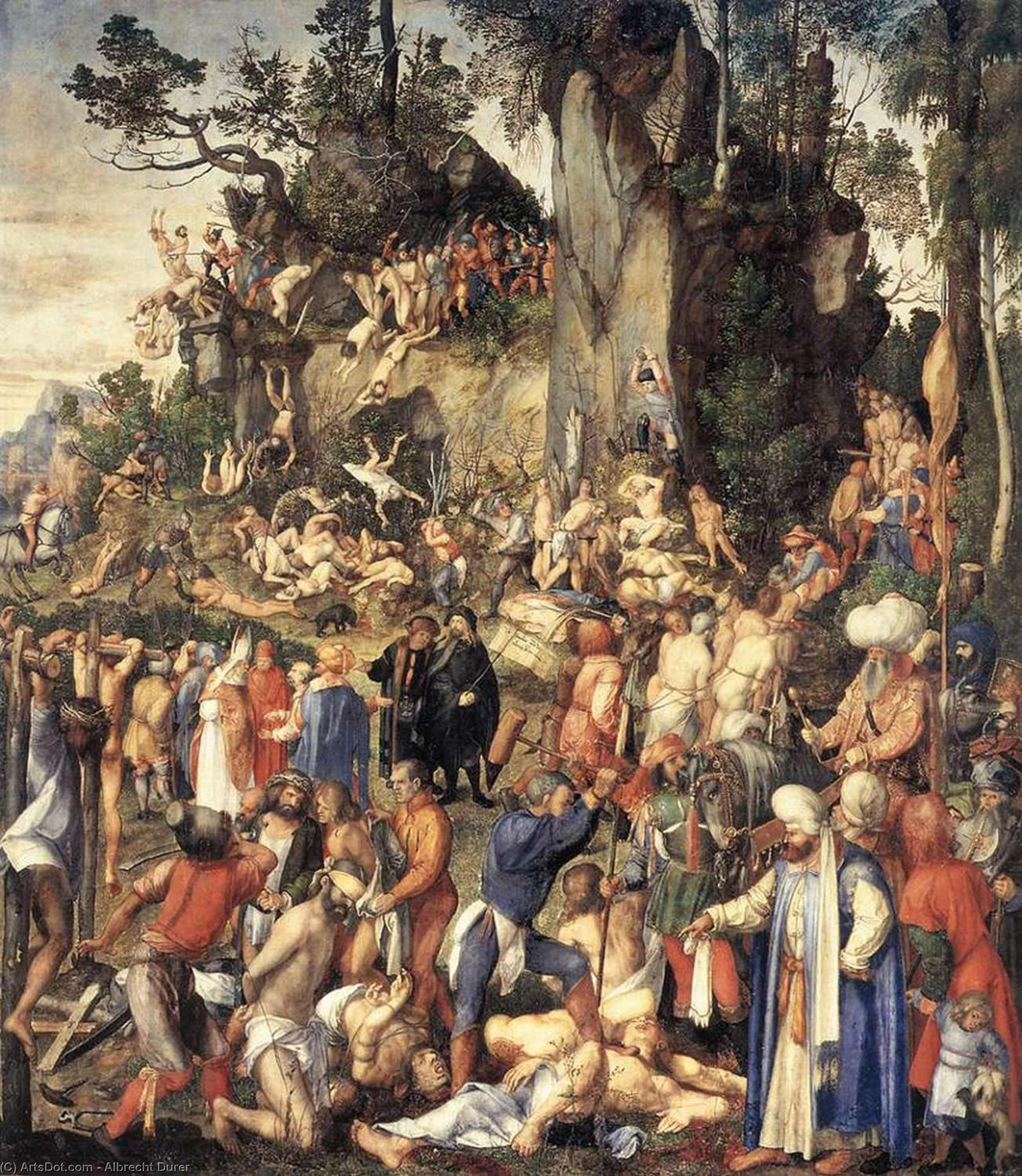 The Martyrdom of the Ten Thousand - Albrecht Durer