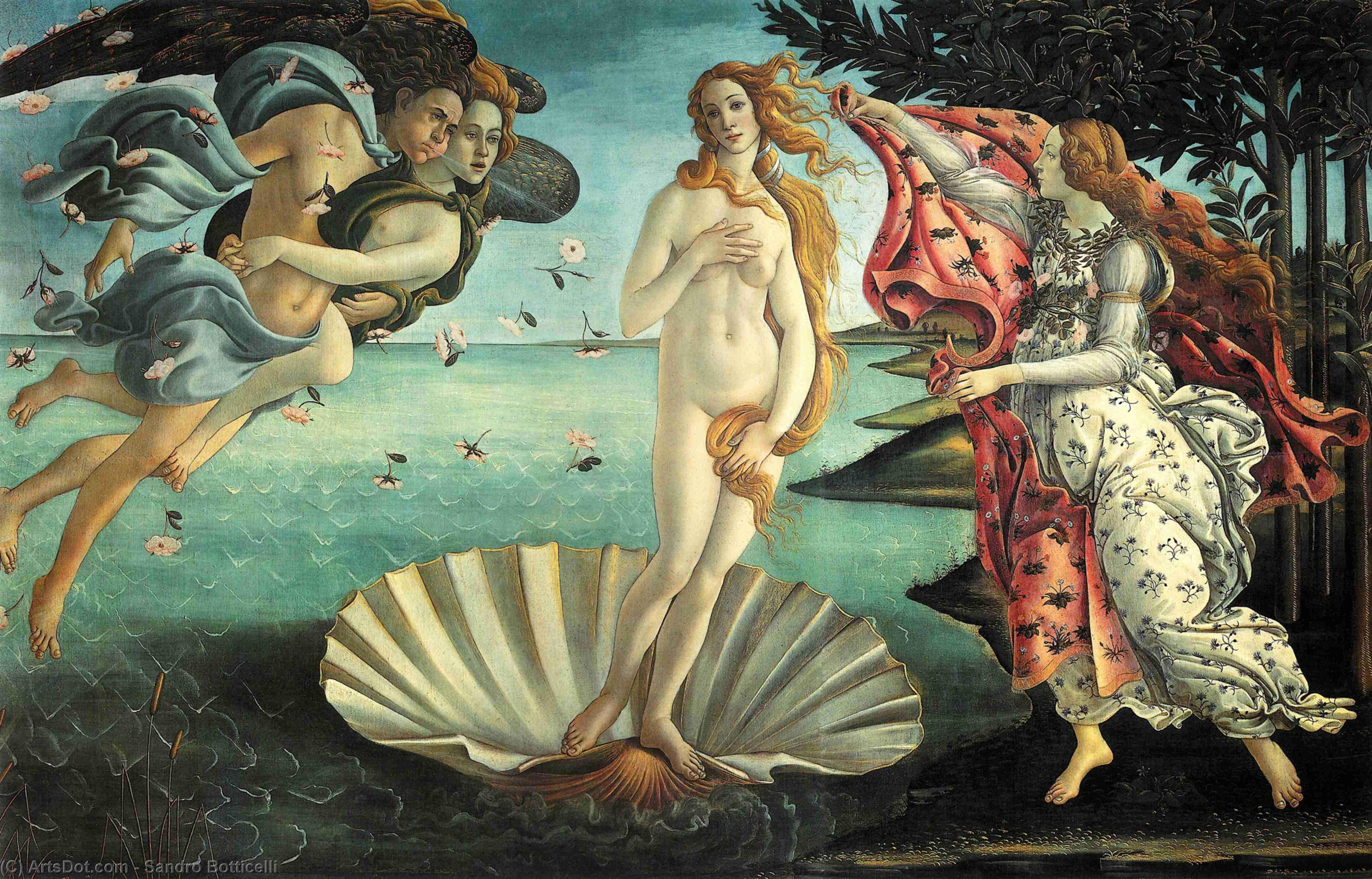维纳斯的诞生 - Sandro Botticelli