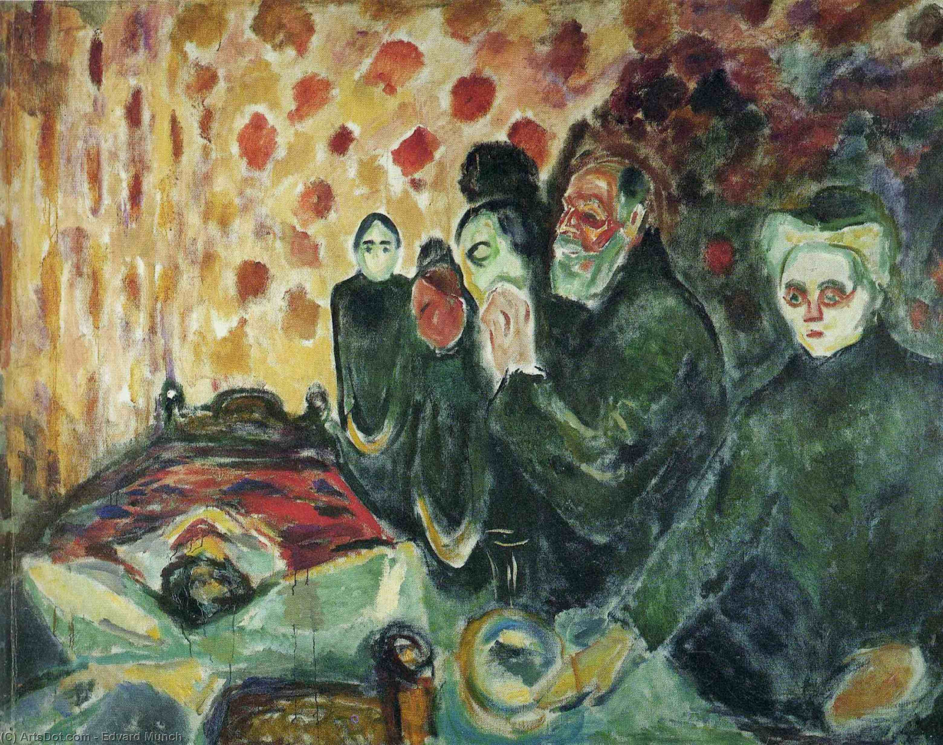 Near the bed of death (fever) - Edvard Munch