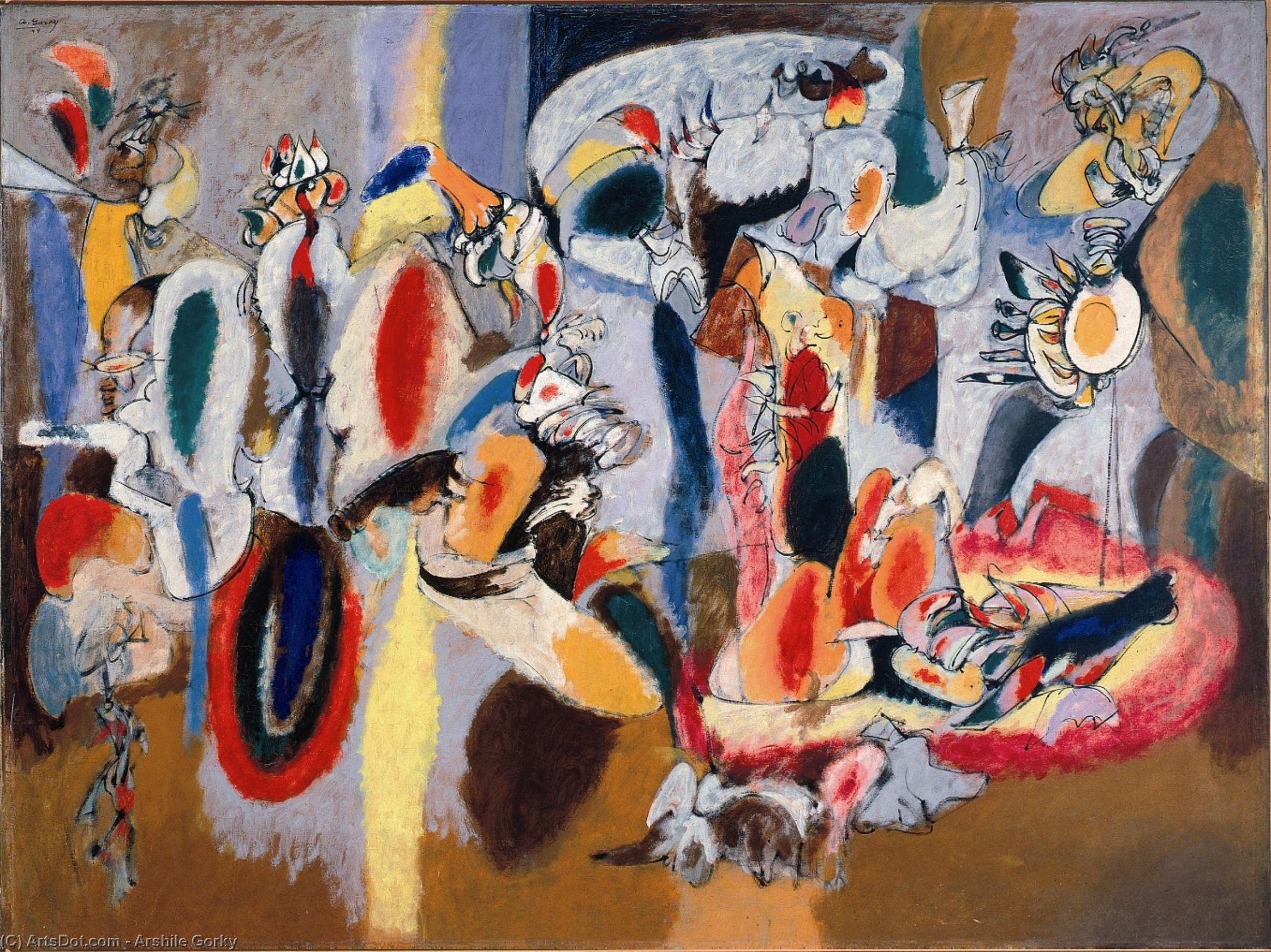 The Liver is the Cock's Comb - Arshile Gorky