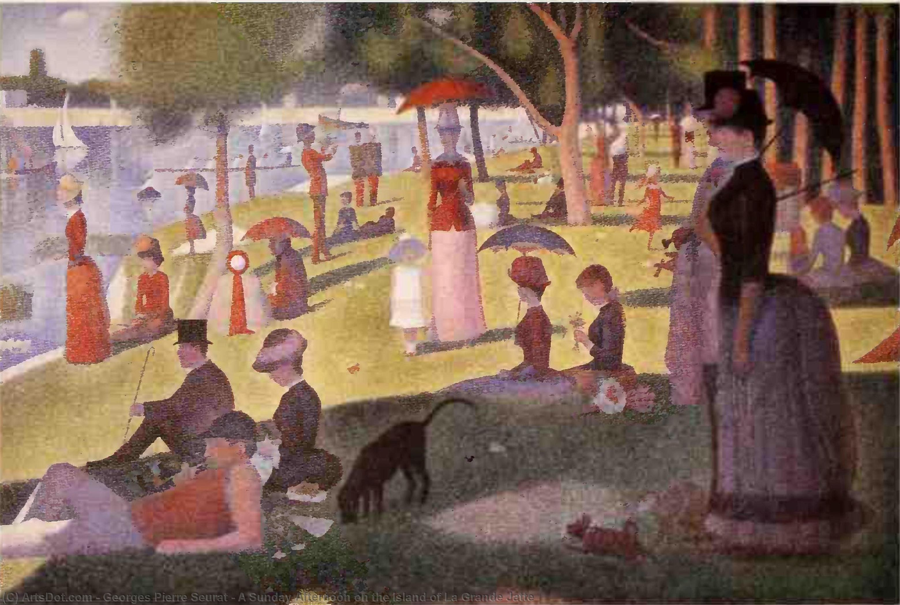 A Sunday Afternoon on the Island of La Grande Jatte - Georges Pierre Seurat