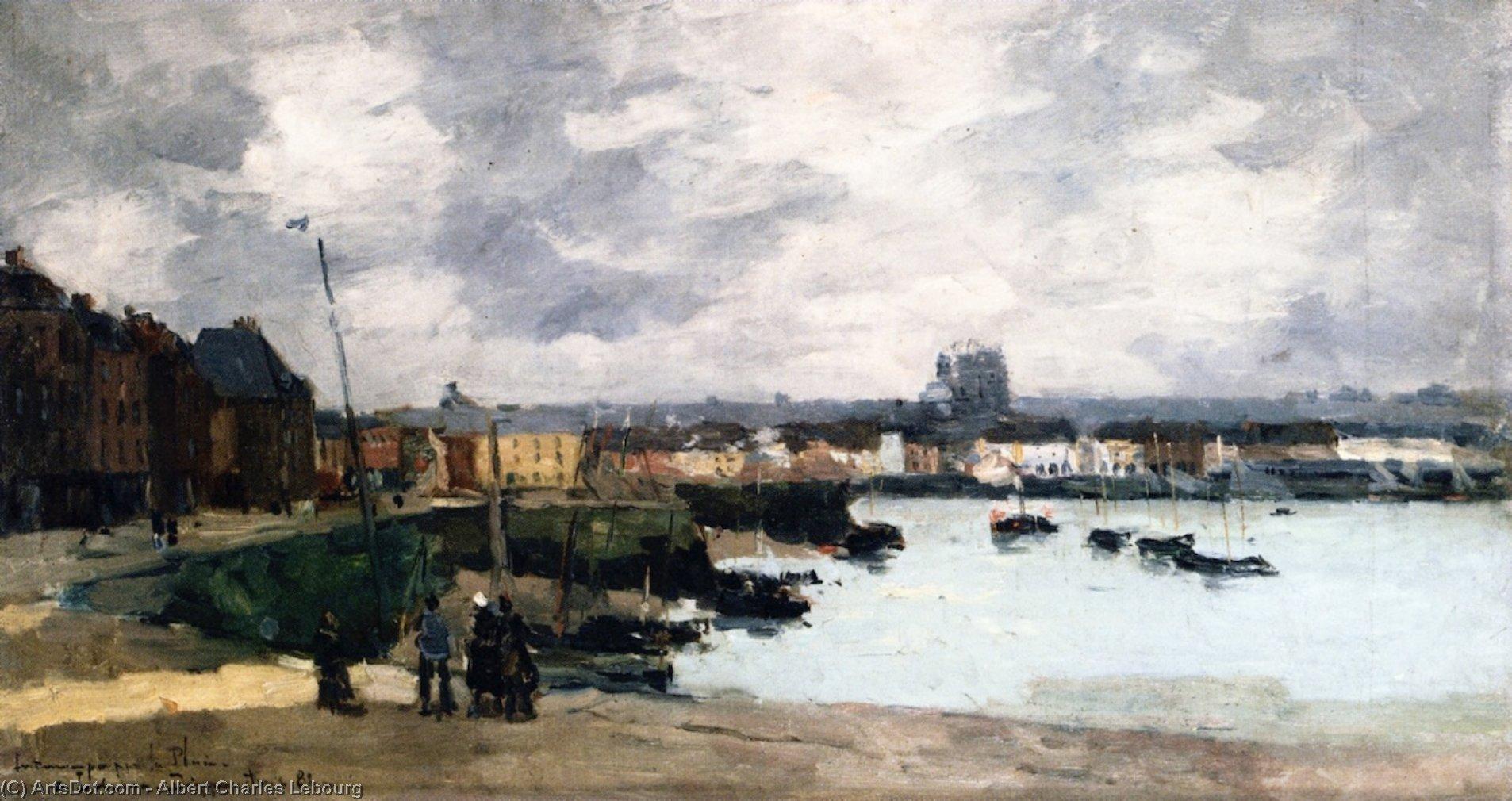 i quays di dieppe , dopo il pioggia - Albert Charles Lebourg