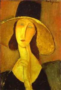 Portrait of Woman in Hat (Jeanne Hébuterne in Large Hat)