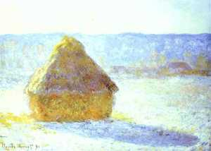 Haystack, Snow Effects, Morning