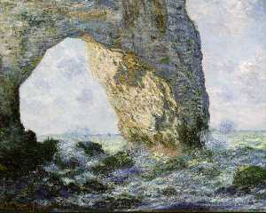 Rock Arch West of Etretat (The Manneport) (1