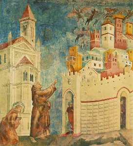 Legend of St Francis - [10] - Exorcism of the Demons at Arezzo