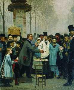 A Newspaper Seller in Paris