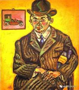 Portrait of Hiberto Casany. (The Chauffeur)