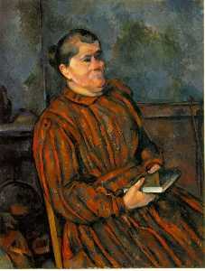Woman in a Red Striped Dress