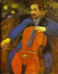 The Cellist (Portrait of Upaupa Scheklud)