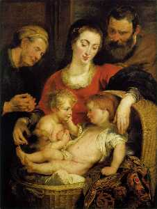 Holy Family with St. Elizabeth (Madonna of the Basket)