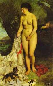 Bather (La Baigneuse au griffon)