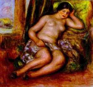 Sleeping Odalisque (Odalisque with Babouches