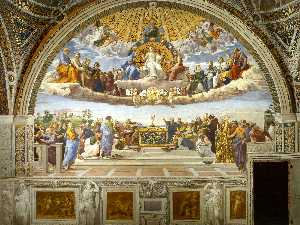 Stanze Vaticane - Disputation of the Holy Sacrament (La Disputa)