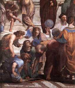 Stanze Vaticane - The School of Athens (detail) [03]